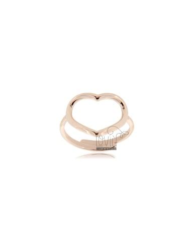 Big heart contour ring...