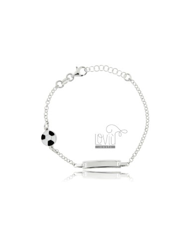 Baby bracelet with plate...
