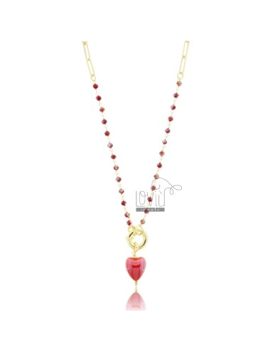 Necklace with stones and...