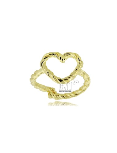 Heart contour ring a wire...