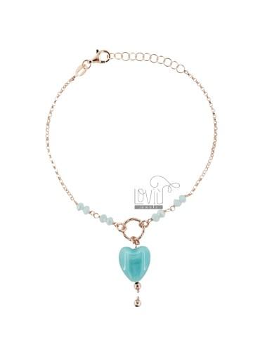 Rolo bracelet, stones and...