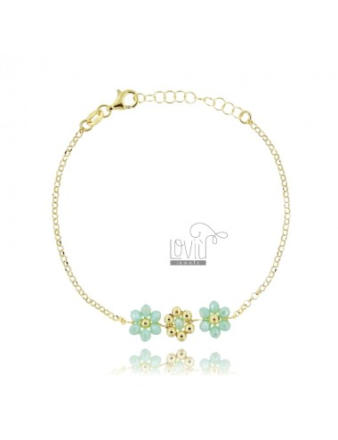 Rolo bracelet with flowers...