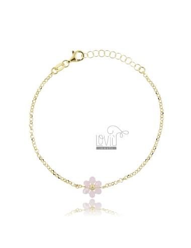 Rolo bracelet with flower...