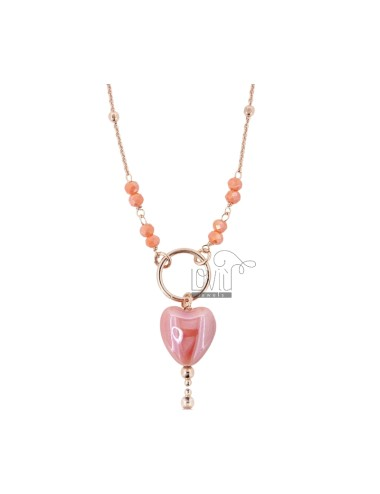Necklace with faceted...