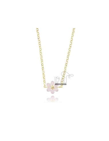 Rolo necklace with flower...