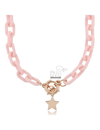 Necklace in resin and star...
