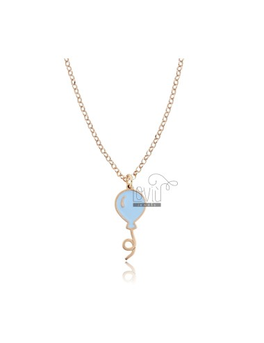 Rolo necklace with enameled...