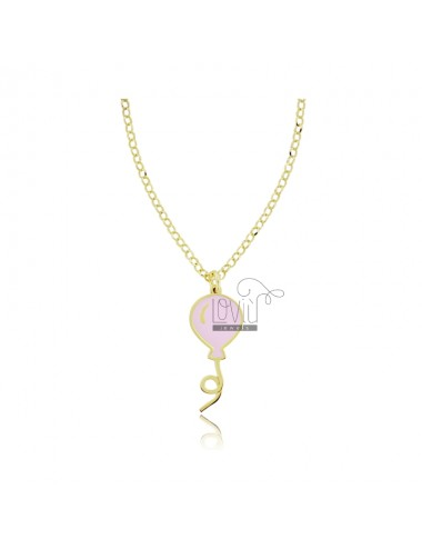 Rolo necklace with balloon...