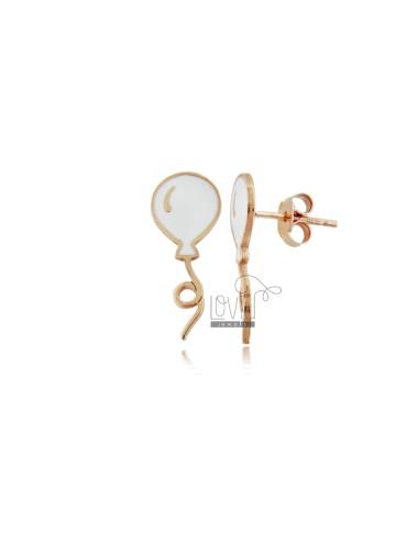 Enameled balloon earrings...