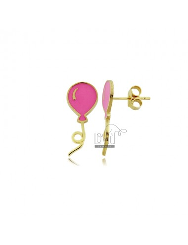Balloon earrings enameled...