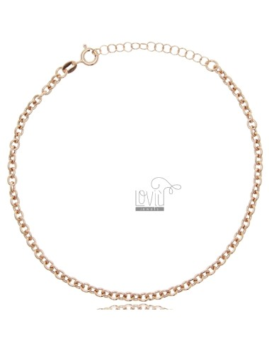 Rolo anklet in rose silver...