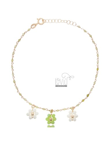 Anklet with stones and...