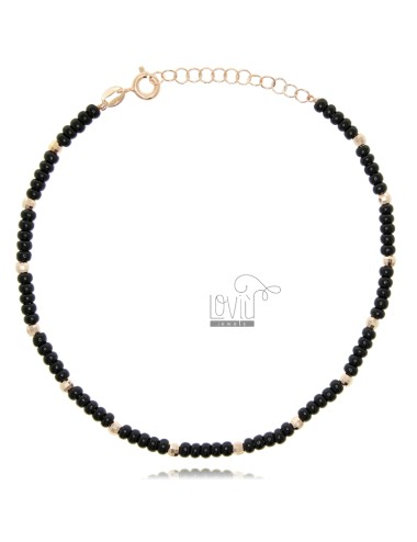 Anklet with stones in rose...