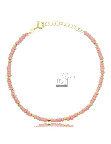 Anklet with stones in...