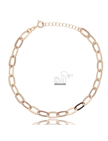 Ankle chain in rose silver...