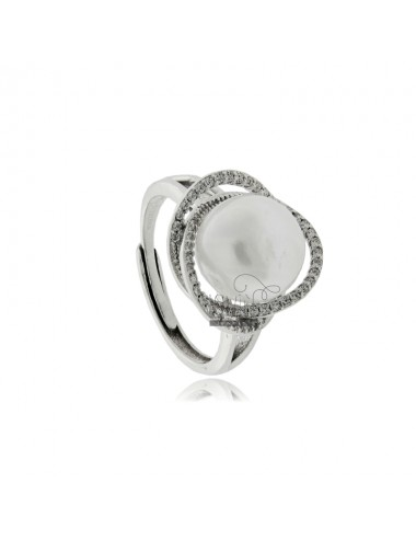 Ring with pearl mm 11 and...
