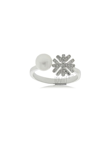 Contrarie ring with pearl 6...