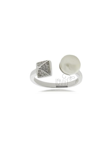 Contrarie ring mit perle mm...
