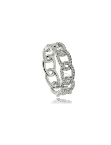 Chain ring with white...