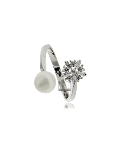Contrarie ring mit perle 7...
