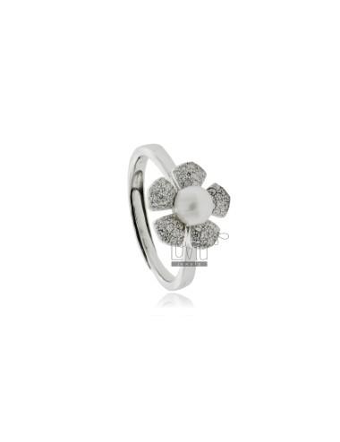 Blumenring mit perle mm 7...