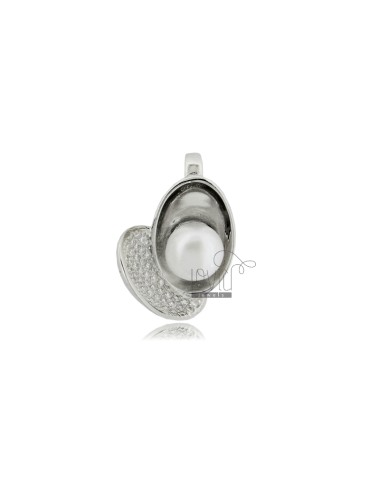 Herzanhänger mit perle mm 8...