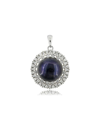 Pendant with black pearl mm...