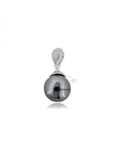 Anhänger mit grauer perle...