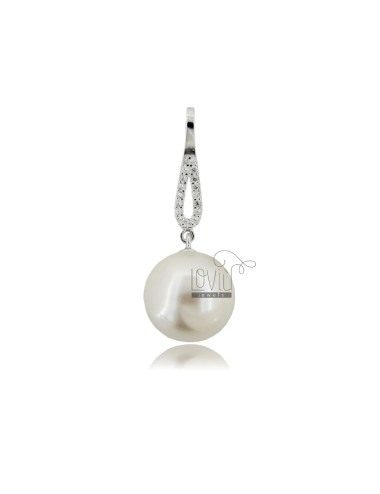 Pendant with pearl mm 12...