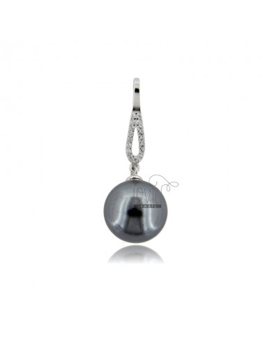 Pendant with gray pearl mm...