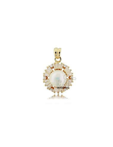 Pendant with pearl mm 8 and...
