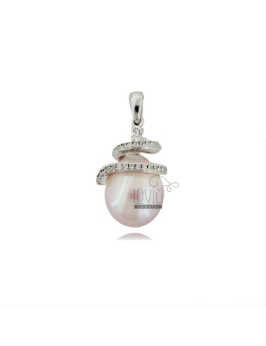Pendant with drop pearl...