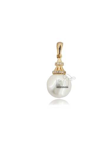 Pendant with pearl mm 10...