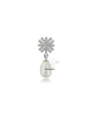 Pendant with pearl 11x7 mm...