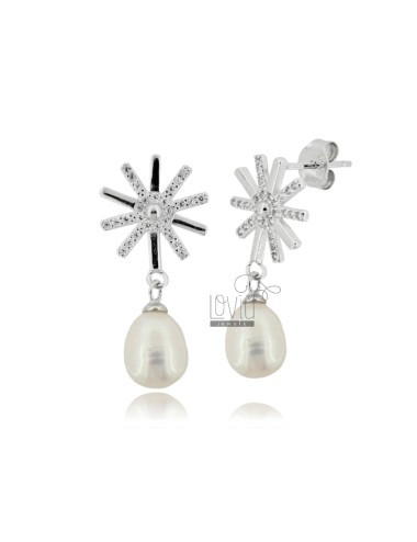 Pendientes colgantes perla...
