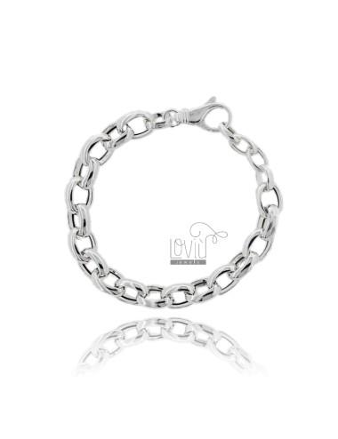 Cable bracelet 9 mm silver...