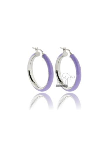 Hoop earrings mm 25 barrel...