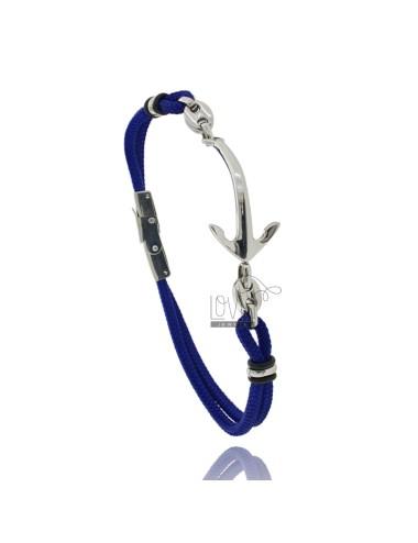 Pulsera de cuerda azul con...
