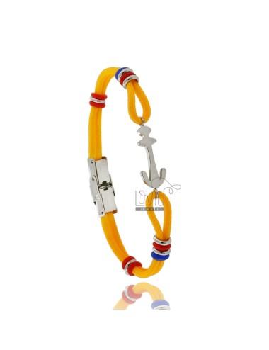 Pulsera cuerda amarilla con...