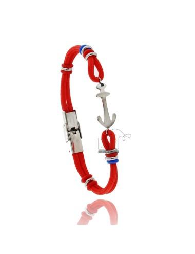 Pulsera cuerda roja con...