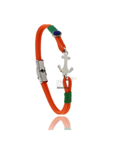 Orange rope bracelet with...
