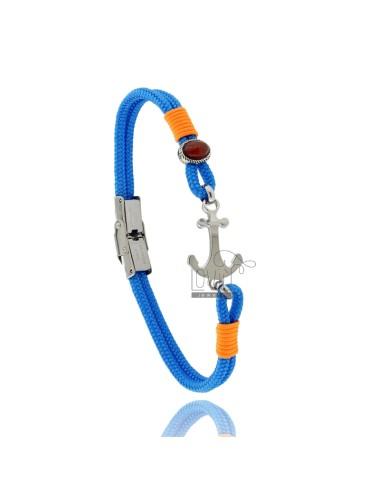 Pulsera de cuerda azul...