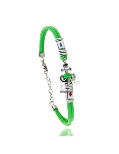 Pulsera cuerda verde con...