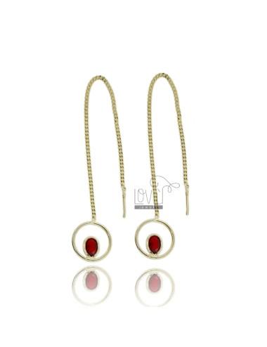 Earrings in silver gilt tit...