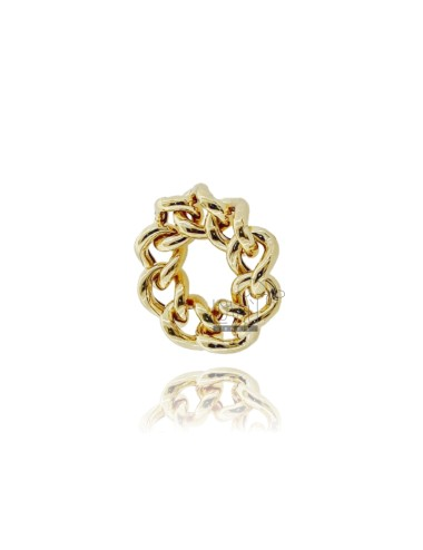 Curb ring 9 mm silver...