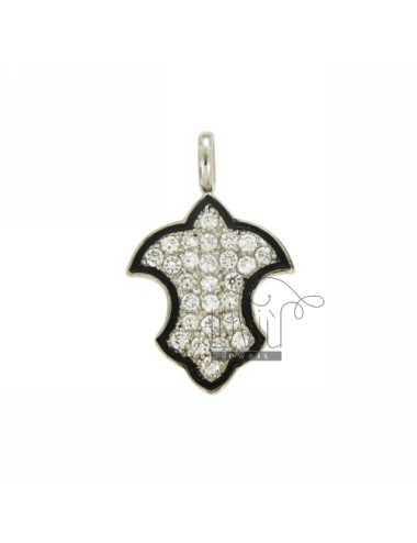 31X20 MM SHIELD CHARM IN AG...