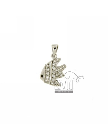 FISH PENDANT 16x13 MM IN AG...