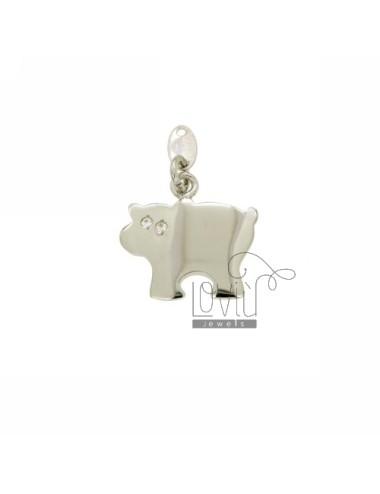 Charm cow 18x19 mm ag tit...