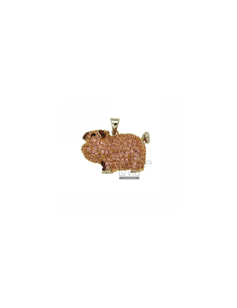 PENDANT MAIALINO TRIDIMENSIONAL 18x27 MM IN AG TIT 925 ‰ AND ZIRCONIA