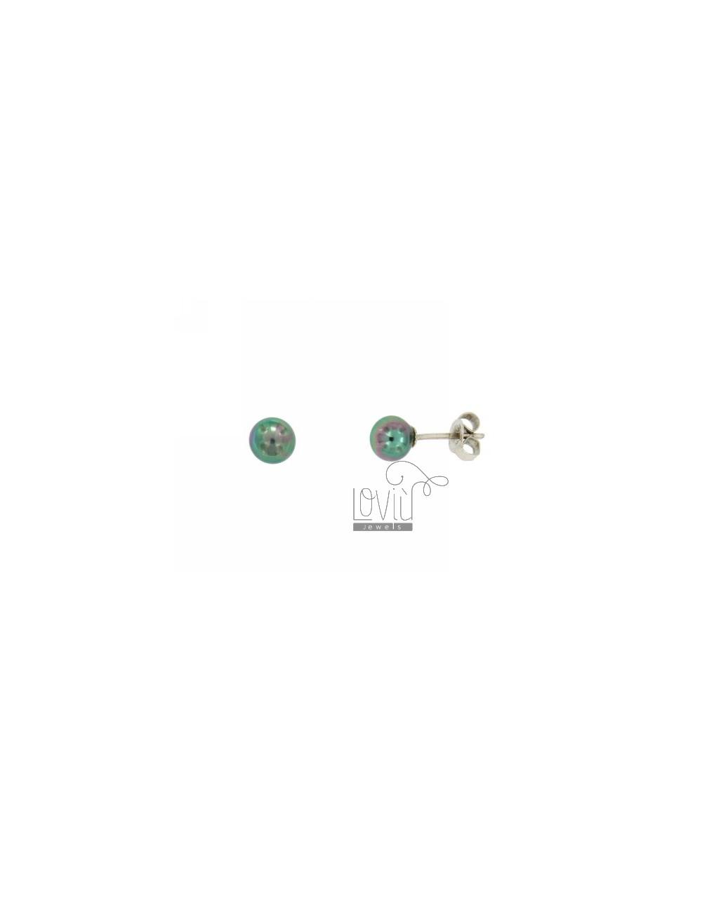 EARRINGS PEARL GREY 6 MM SILVER TIT 925